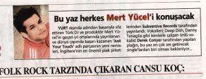 Mert Yücel - Sabah gazetesi 13 Haziran 2006 tarihli baskısı