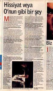 Mert Yücel - 14 Ağustos 1999 Radikal Gazetesi