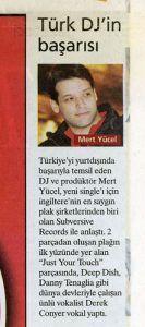 Mert Yücel - Milliyet Gazetesi 17 Nisan 2005