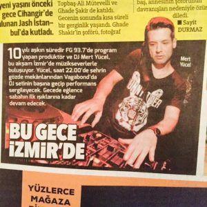 Mert Yücel - Hürriyet gazetesi 1 Mayıs 2015 baskısı