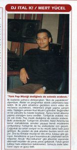 Mert Yücel - Blue Jean dergisi Ağustos 1999