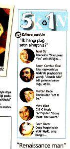 Mert Yücel - Aktüel Dergisi Eylül 2003 sayısı