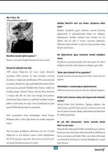 mert yücel - maarif dergisi röportajı