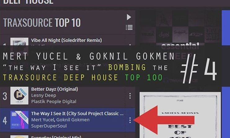 "Mert Yucel & Goknil Gokmen ""the way I see it "" is now  No:4 @ Traxsource Deep House Top100"